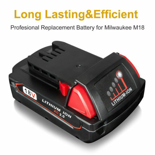 For Milwaukee M18 18V 48-11-1820 M18B Lithium-Ion 2.0Ah Compact Battery 2787-22