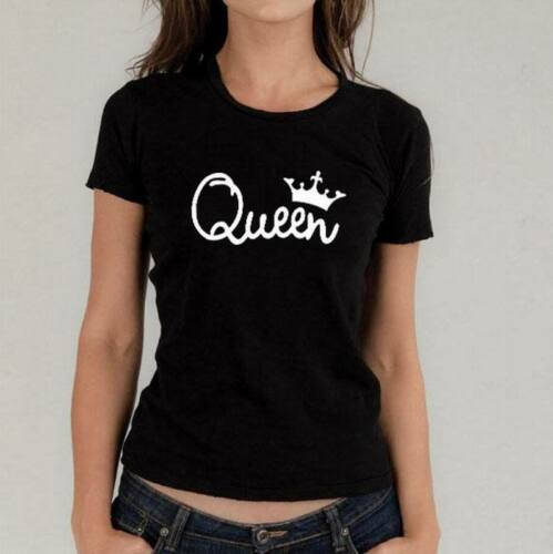Top New Couple T-Shirt King And Queen Love Matching Shirts Summer Unisex Tee Top