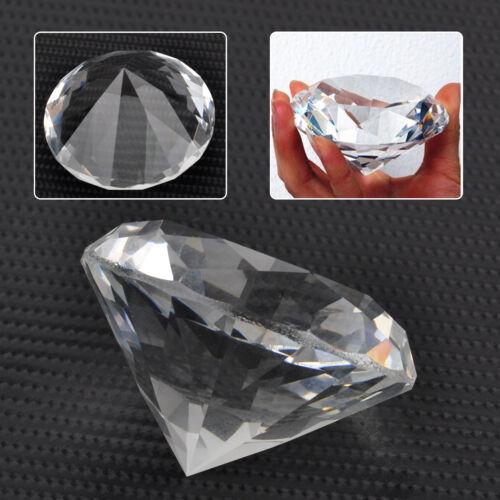 60mm Kristalldiamant Glasdiamant Dekoration Glas Diamant Klar Hochzeit Deko