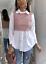 Damen-Pu-Kunstleder-Kontrast-Knopfleiste-Kragen-Shirt-Bluse-Kleid-Top Indexbild 4