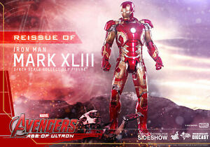 Hot-Toys-Iron-Man-Mark-XLIII-43-AVENGERS-AGE-OF-ULTRON-Flambant-Neuf-Scelle-904123