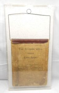 THE-KITCHEN-WALL-TEMPERANCE-COOK-BOOK-WITH-DISPLAY-CASE-1888-ANTIQUE