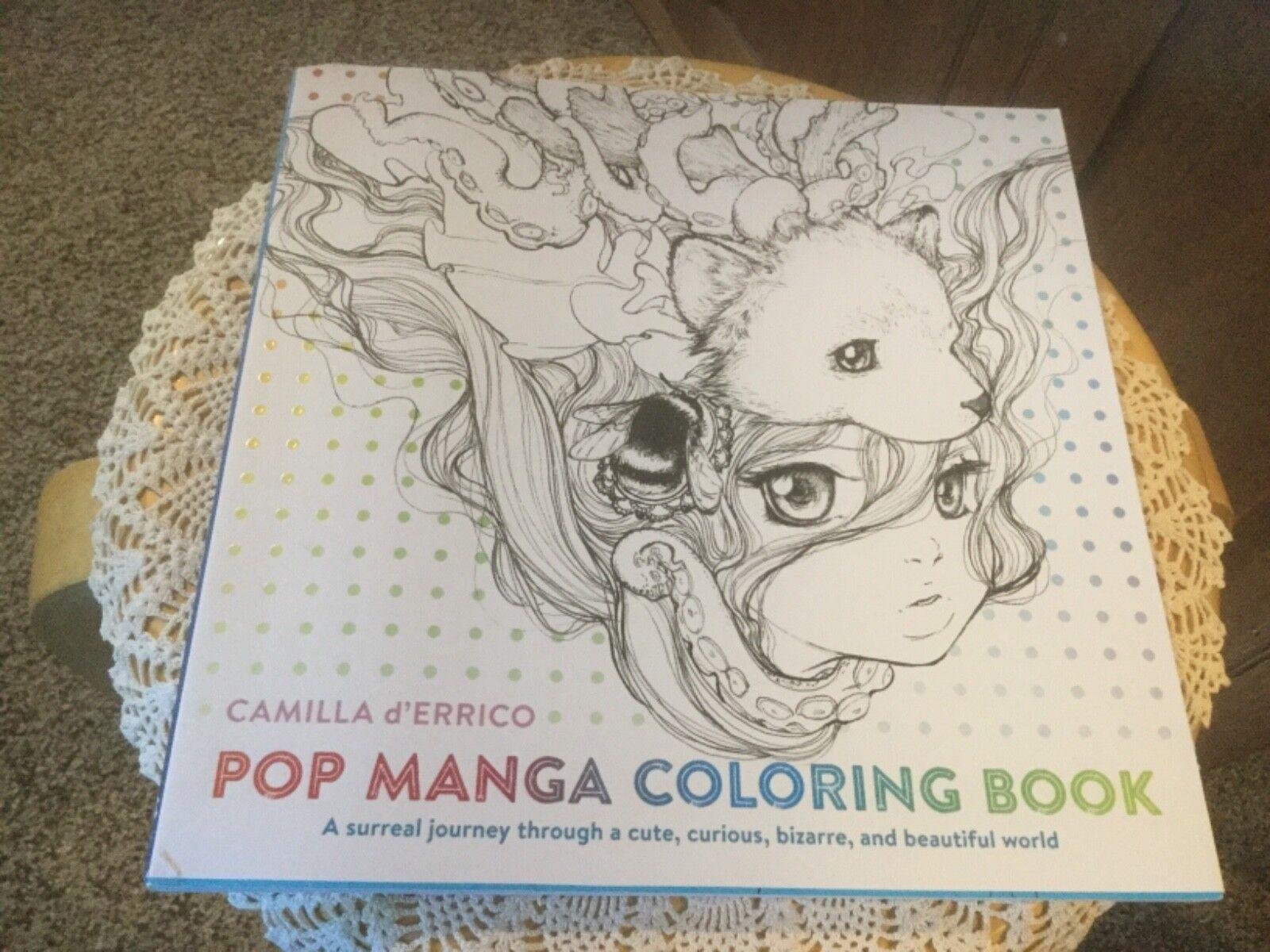 Pop Manga Coloring Book A Surreal Journey Through A Cute Curious