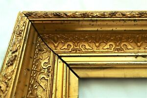 "ANTIQUE FITS 10 X12"" GOLD PICTURE FRAME WOOD GESSO ORNATE FINE ART COUNTRY"