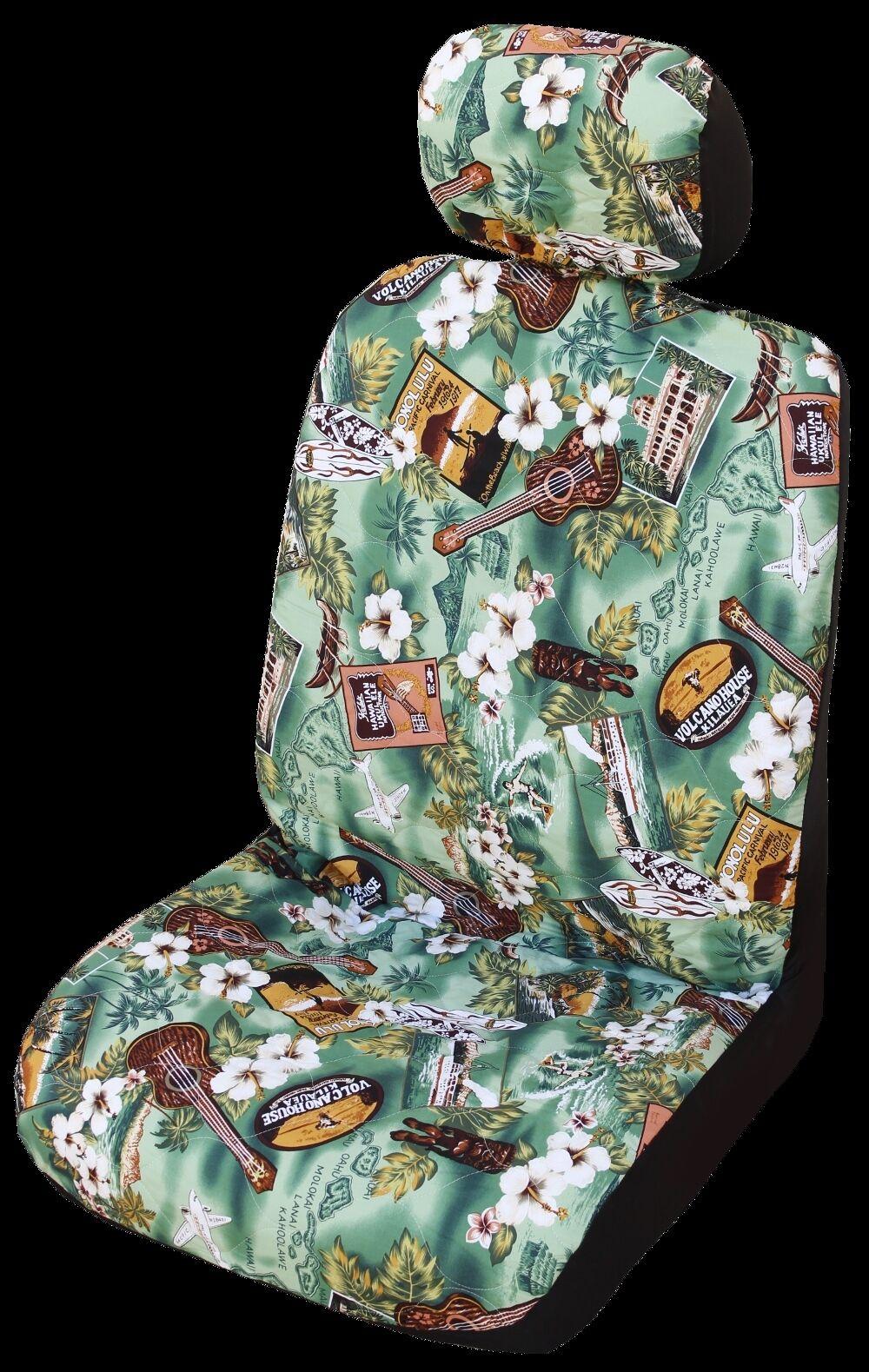verde Kona Music Hawaiian Separate Headrest Cover