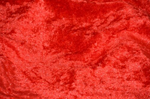 """VELVET PANNE RED CRUSHED BACKDROP VELOUR STRETCH FABRIC 60/"""" WIDE BY THE YARD"""