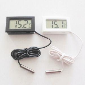 Détails sur Mini Thermomètre Numérique Température Mesure Testeur Avec Imperméable Sonde