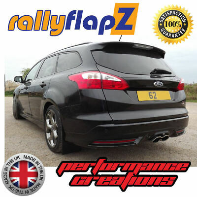 Rally Mudflaps FORD FOCUS ST MK3 ST250 ESTATE Version Black Polyurethane Qty x 4