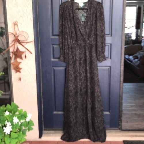 PARKER LONG-SLEEVE SILK MAXI DRESS size XS