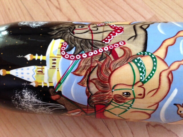 Authentic Russian Russian Russian Nesting Doll, Hand Crafted/Painted, Extra TALL - Mint Conditio 7c4526