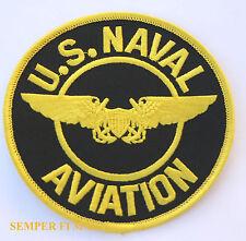 "4"" US NAVY NFO NAVAL FLIGHT OFFICER HAT PATCH USS PIN CARRIER NAS NAF F4 F18 A6"