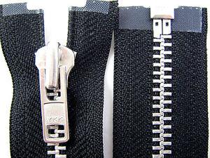 Black-YKK-Heavy-Duty-amp-Strong-No-8-Chain-Leather-Motorbike-Jacket-Open-End-Zip