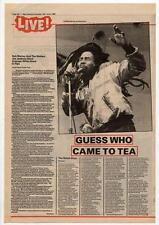 Bob Marley & The Wailers Joe Jackson AWB concert review NME Cutting 1980