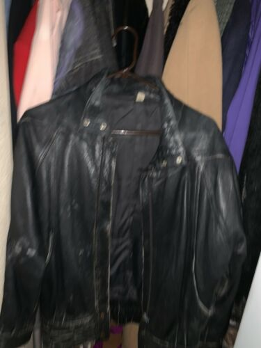 Awesome 1990's Real Black Leather Jacket