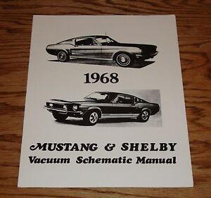 1968 ford mustang shelby vacuum schematic manual 68 ebay rh ebay com 66 Mustang 67 Mustang