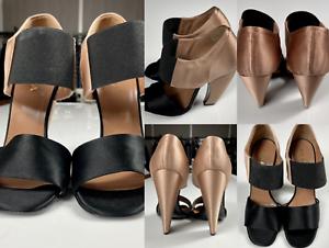Prada Iconic Retro Satin Sandals Shoes Slingback Schuhe Peep Open Toe Pumps 39