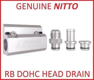 NITTO-HEAD-OIL-DRAIN-5-8-HOSE-FITTING-NIT-OILRBD-for-NISSAN-SKYLINE-HCR-R32-GTST