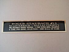 Roger Staubach Cowboys Engraved Nameplate For A Football Jersey Case 1.25 X 6