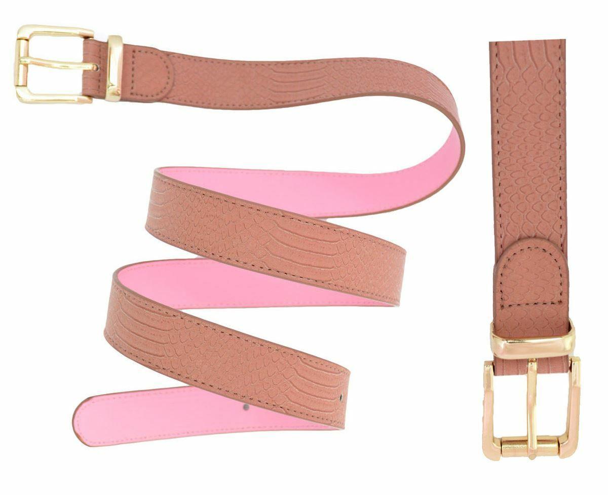 ! nuevo! famoso de Moda para Mujer Talle Grande Estampado De Serpiente Imitación Cuero Cinturones De Cintura Cadera