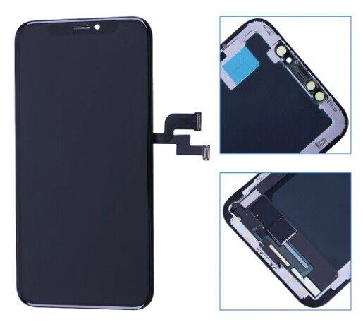 Écran pour iPhone X Noir avec verre trempé