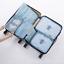 7 Pezzi Organizer Set Valigia Borse Di Stoccaggio imballaggio Da Viaggio Cubi UK