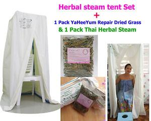 Image is loading Herbal-Steam-Tent-Set-YaHeeYum-Thai-Herbs-Repair-  sc 1 st  eBay & Herbal Steam Tent Set - YaHeeYum Thai Herbs Repair Dried Grass ...