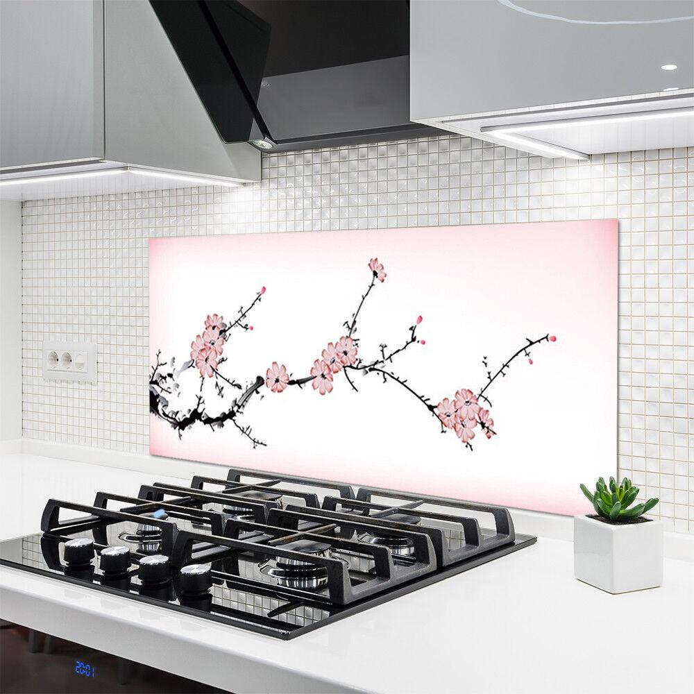 Crédence de cuisine en verre Panneau 120x60 Floral Floral Floral Fleurs 95fdc5