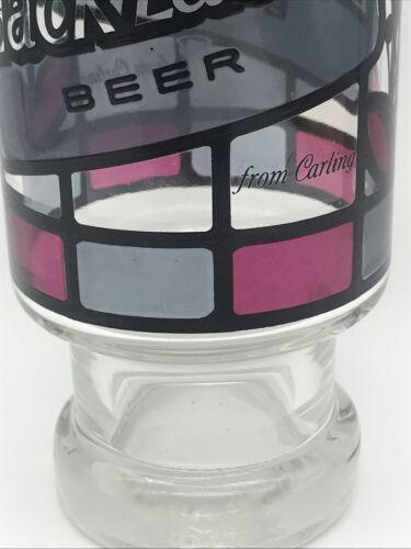 Vintage Black Label Beer Glass Stained Glass Art Deco Carling Vintage Drinks