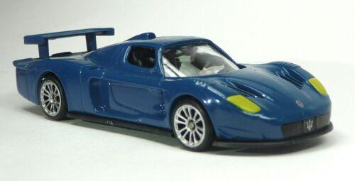 3 piezas de coche modelo Top Gear Maserati mc12 azul 1:64 stig power series Culto