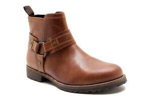 Red-Tape-Bradley-Biker-Cowboy-Weston-Ankle-Zip-Strap-Boots-Tan-Brown