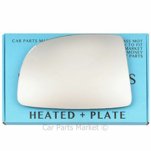 Left side Flat Wing door mirror glass for Kia Carens 2006-2012 heated plate