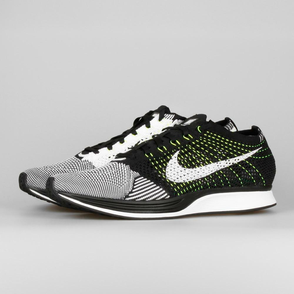 Nike Flyknit Racer Mens White Multi Size [526628-011] Black White Mens Volt New 93ac61