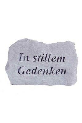 """Nostalgie- & Neuware Gedenkstein """"in Stillen Gedenken"""" Vidroflor Steinguss Friedhof Frostfest 76660"""