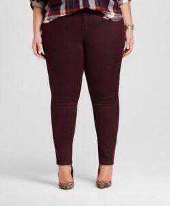 3ac130ed3f633 NEW! Ava & Viv - Women's Plus Size Skinny Jean - Black Raspberry ...