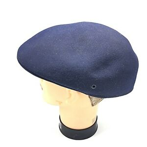 45d7bcc4cdb Pendleton Mens Ivy Newsboy Vtg Hat Cap Navy Blue Wool M Medium USA ...