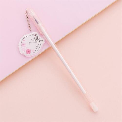 Kawaii Sakura Pendant Gel Pen Cute Black Ink Exam Signing Pen School Stationery