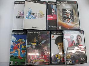 Lot-of-8-games-Final-Fantasy-Lupin-SET-Playstation-PS2-Japan-Ver