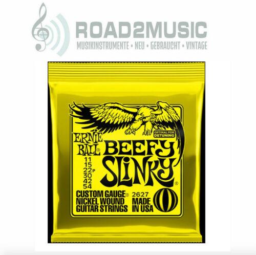 Ernie Ball 2627 Beefy Slinky 11-54 E-Gitarren Saiten Guitar Strings Set