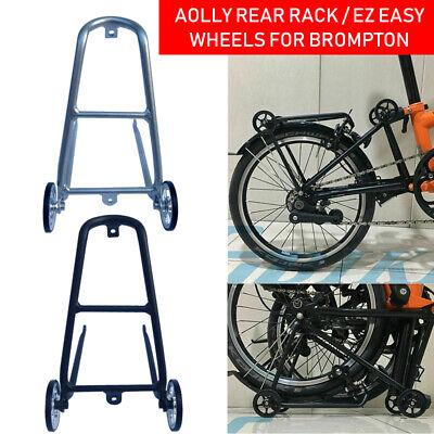 Extension EZ Wheel for Brompton Frame set Alloy Easy Wheels Double Roller