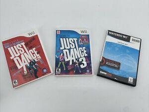 Just Dance 1, 3 & 4 Nintendo Wii Set 3 Game Bundle Guaranteed Party Fun!