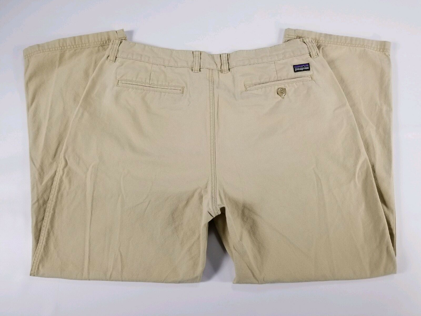 Patagonia Beige Organic Cotton Casual Hiking Pants Trousers Mens 38 (36x28)