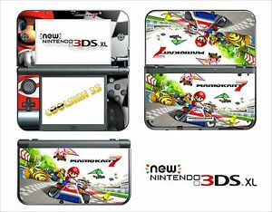 skin sticker autocollant nintendo new 3ds xl ref 149 mario kart 7 ebay. Black Bedroom Furniture Sets. Home Design Ideas