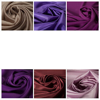 100/% Polyester Pink Purple Lining Luxury Quality Dress Fabric Upholstery Crafts