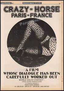 CRAZY-HORSE-DE-PARIS-Original-1977-Trade-print-AD-promo-poster-Alain-Bernardin
