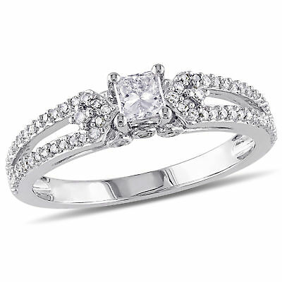 Amour 1/2 CT Diamonds TW Engagement Ring in 10K White Gold
