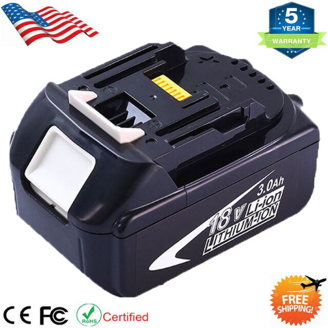2x 3.0AH 18V Li-ion Battery for Makita BL1815 BL1830 BL1840B BL1850 194205-3 LXT