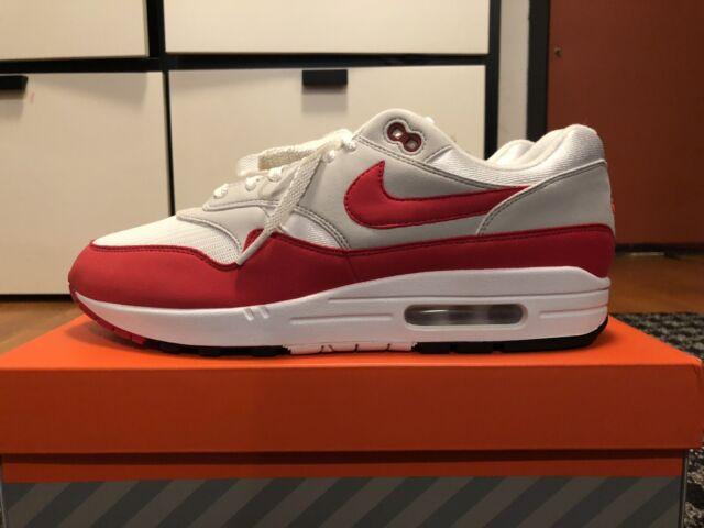 Nike Air Max 1 30th Anniversary US11 908375 103 White Red Grey OG Gray QS