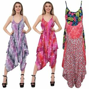 Ladies-Baggy-Sleeveless-All-in-One-Cami-Romper-Playsuit-Harem-Style-Jumpsuit