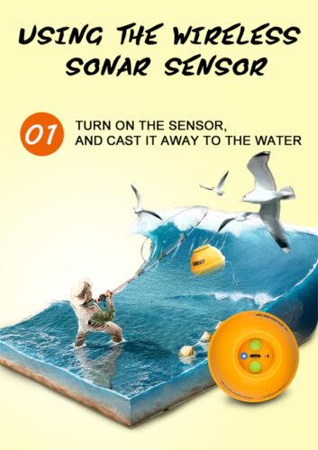 Sonda inalámbrica recargable suerte profundidad 45M buscador de los pescados