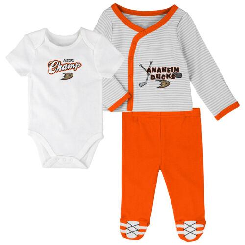 NHL Anaheim Ducks Bodysuit Romper Jumpsuit Outfits 3 Piece Set Newborn Kids